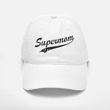 Vintage Super Mom Baseball Baseball Cap