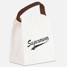 Vintage Super Mom Canvas Lunch Bag