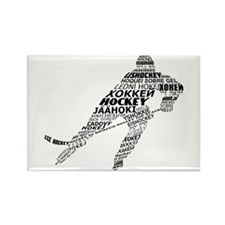 Hockey Languages Typography Rectangle Magnet