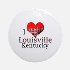 I Love Louisville Ornament (Round)