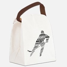 Hockey Languages Typography Canvas Lunch Bag