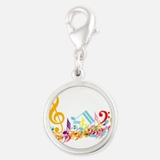 Colorful Musical Notes Charms