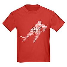 Hockey Languages Typography T-Shirt