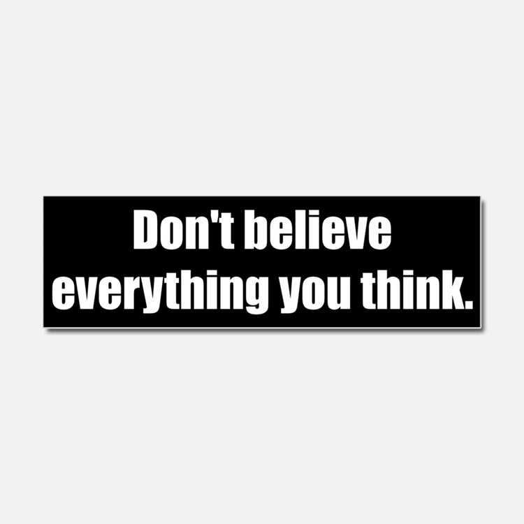 Don't believe everything you think (Car Magnet)