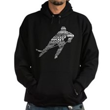 Hockey Languages Typography Hoodie
