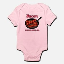 Bacon Cast Iron Skillet USA Infant Bodysuit