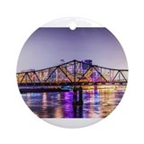 Louisville kentucky Round Ornaments