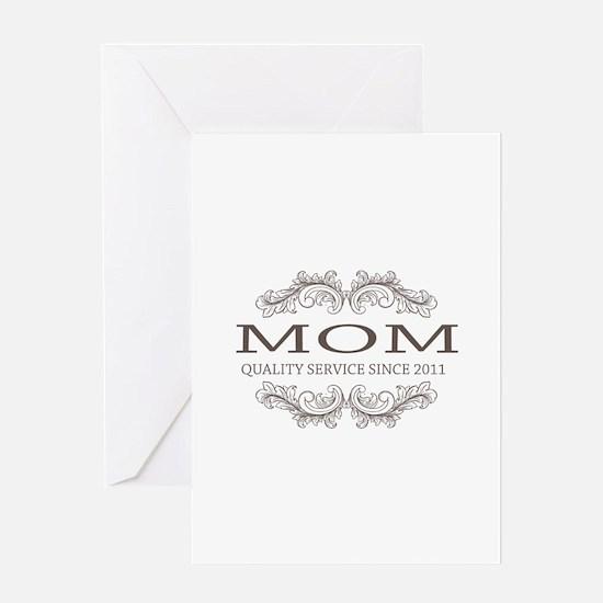 Mom 2011 - Vintage Quality Service Greeting Card