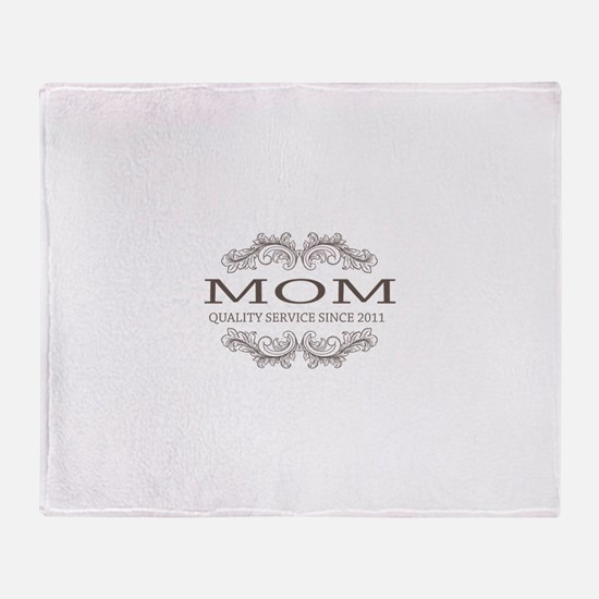 Mom 2011 - Vintage Quality Service Throw Blanket