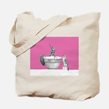Pink mixing bowl Tote Bag