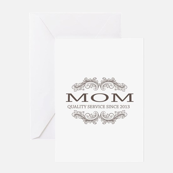 Mom 2013 Vintage Quality Service Greeting Card
