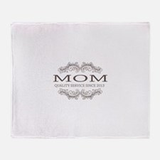 Mom 2013 Vintage Quality Service Throw Blanket
