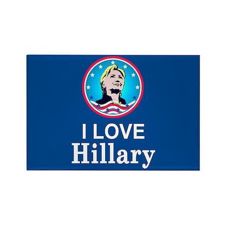 I Love Hillary Rectangle Magnet (10 pack)