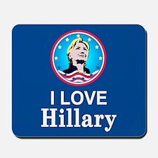 I Love Hillary Mousepad