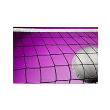 Purple Volleyball Net Rectangle Magnet