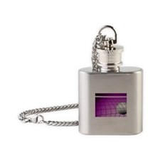 Purple Volleyball Net Flask Necklace