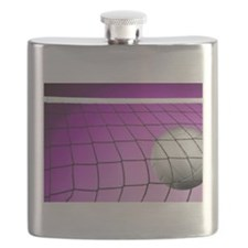 Purple Volleyball Net Flask