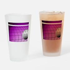 Purple Volleyball Net Drinking Glass