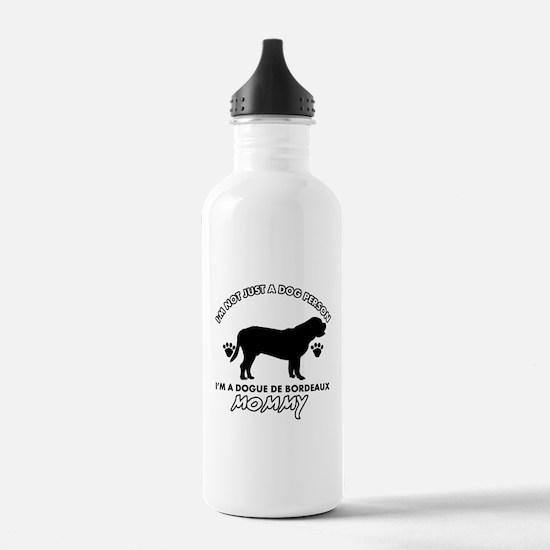 Dogue de Bordeaux dog breed designs Sports Water Bottle