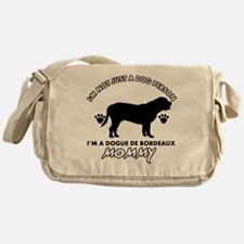 Dogue de Bordeaux dog breed designs Messenger Bag