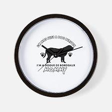 Dogue de Bordeaux dog breed designs Wall Clock