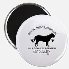 Dogue de Bordeaux dog breed designs Magnet