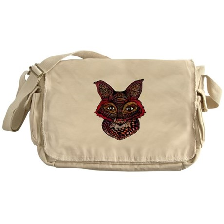 Fox Patterns Messenger Bag