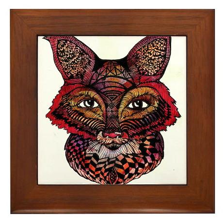 Fox Patterns Framed Tile