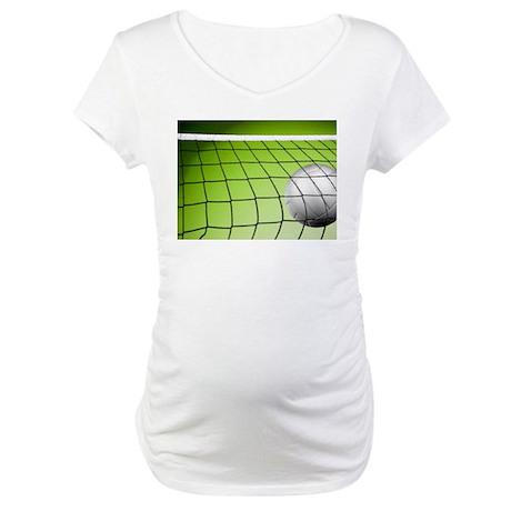 Green Volleyball Net Maternity T-Shirt