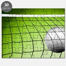 Green Volleyball Net Puzzle