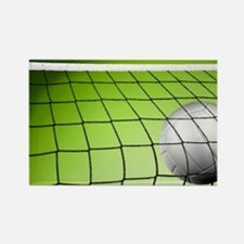 Green Volleyball Net Rectangle Magnet