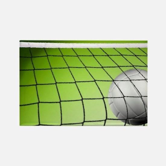 Green Volleyball Net Rectangle Magnet (10 pack)