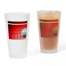 Red Volleyball Net Drinking Glass