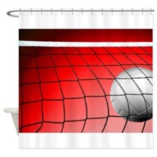 Red Volleyball Net Shower Curtain