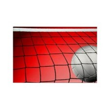 Red Volleyball Net Rectangle Magnet
