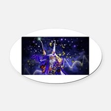 Merlin the Web Wizard Oval Car Magnet