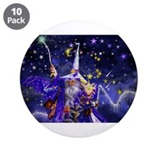 """Merlin the Web Wizard 3.5"""" Button (10 pack)"""