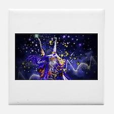 Merlin the Web Wizard Tile Coaster