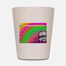 Rainbow Volleyball Net Shot Glass