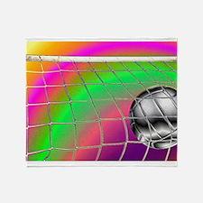 Rainbow Volleyball Net Throw Blanket