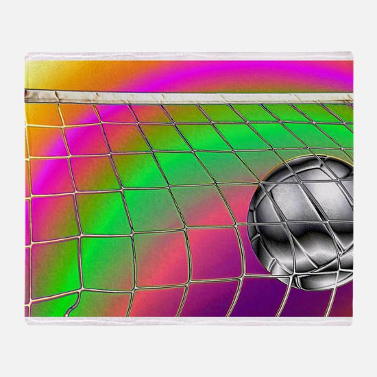 Rainbow Volleyball Net Throw Blanket