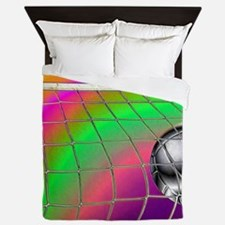 Rainbow Volleyball Net Queen Duvet