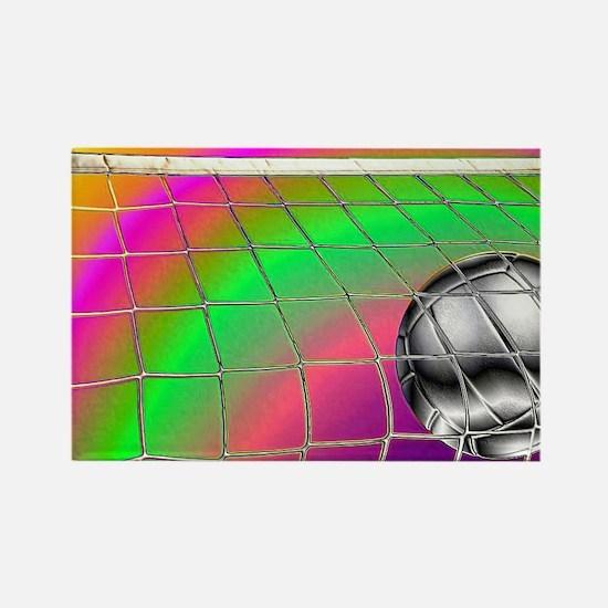 Rainbow Volleyball Net Rectangle Magnet