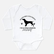 Field Spaniel dog breed designs Long Sleeve Infant