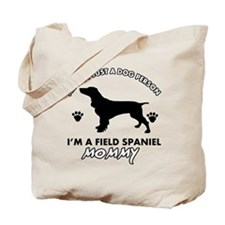 Field Spaniel dog breed designs Tote Bag