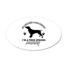 Field Spaniel dog breed designs Oval Car Magnet