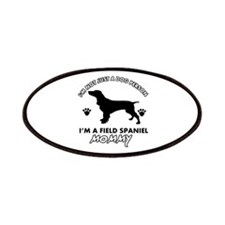 Field Spaniel dog breed designs Patches