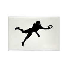 Football player Rectangle Magnet