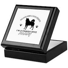Finnish Spitz dog breed designs Keepsake Box