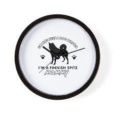 Finnish Spitz dog breed designs Wall Clock